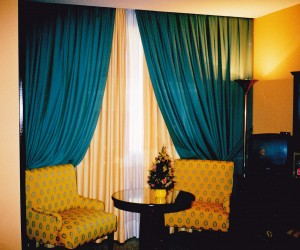 Madrid hotel, the Spanish have a way with colours to create a cool inviting look for siesta time