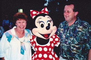 Jimbo and me with Minnie Mouse at Disneyland