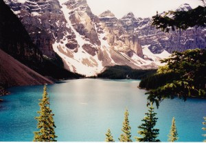Moraine Lake with Ten Peaks in background