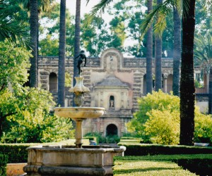 Beautiful gardens of the Real Alcazarez