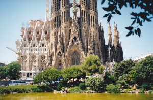 Gaudi's SAGRADA FAMILIA Cathedral Barcelona, John and I went to the top of one of the towers