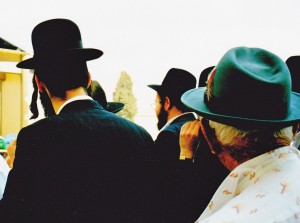 Classic shot of our Bill Muirr walking with some of the Jewish faith to the Wailing Wall