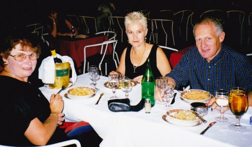 Peter and Sue Davidson dining in Florence