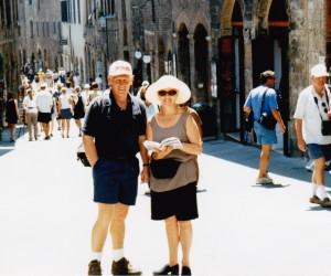 Peter and Sue Davidson in San Gimignano