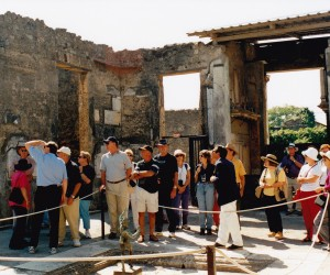 POMPEII OUR GROUP WITH LOCAL GUIDE