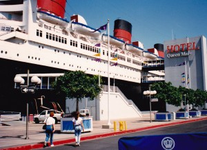 Deb and myself checking out the old Queen Mary now a hotel at Long Beach Ca