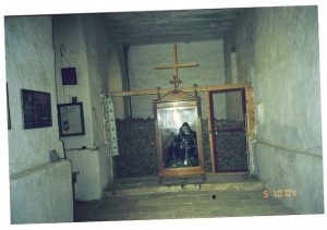 The holy remains of St.Catherine at  the monastery (photo provided by Lou Robinson & Pat Hall)