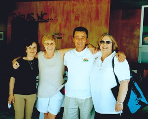Tom & Anna Stamiris with Michelle and me at their Zakynthos taverna at Planos