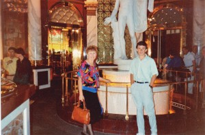 Adam and I at the statue of David copy at Caesar's Palace