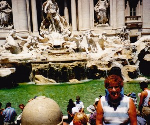 THREE COINS IN TREVI FOUNTAIN