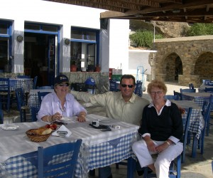 Michelle, Yianni and myself at Tinos