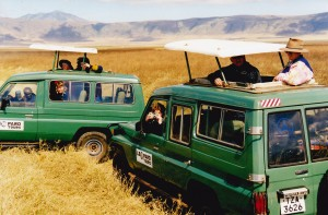 Our game drive vehicles in Ngorongoro crater Tanzania