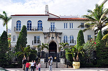 Versace's villa at North Beach Miami recently