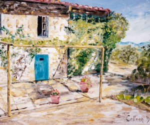 VILLA PARADISO AT SAN GIMIGNANO Painting by Colleen Woodward