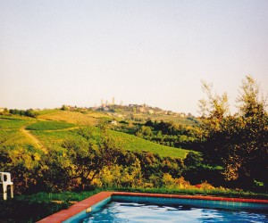 VILLA PARADISO POOL LOOKING TO SAN GIMIGNANO TOWERS