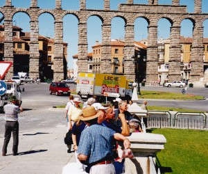 Well preserved ROMAN AQUEDUCT AT SEGOVIA