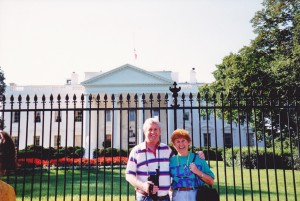 First lady and her President John at White House Washington