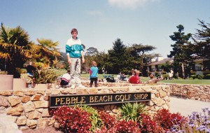 Adam at Pebble Beach Golf Club