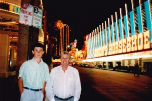 John and Adam on the Las Vegas strip