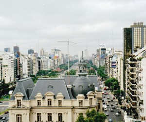 Very wide 9th July Avenue Buenos Aires, from the Hyatt