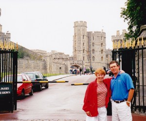 Adam and me at WINDSOR CASTLE
