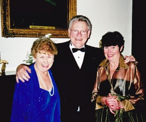 Australia's Ambassador for Ireland Mr Bob Halvorsen with Colleen and Louise Carruthers