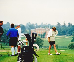 BROCKETHALL HERTFORDSHIRE - MARDI LUNN GOLFER, ADAM CADDY