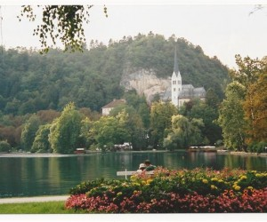 Beautiful LAKE BLED Slavinia on Geoff Phillips Eastern Europe tour