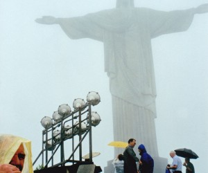 Christ the Redeemer statue at and seen all over Rio