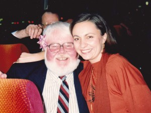 Our Insight International tour manager Debrah Lawrence with John McKenzie (Father Xmas)