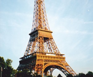Eiffel Tower Paris from our River Seine dinner cruise Globus finale night
