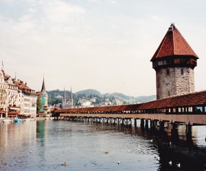 Famous wooden bridge Lucerne