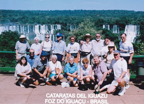 HWT Group in South America at Iguazu Falls