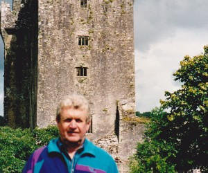 John at Blarney Castle, he didn't kiss the blarney stone because he reckoned he might catch something!