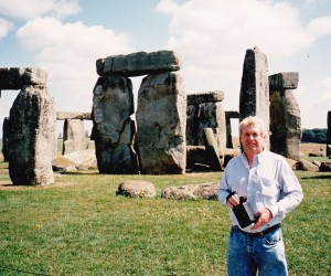 John at enigmatic Stonehenge on the way back to London