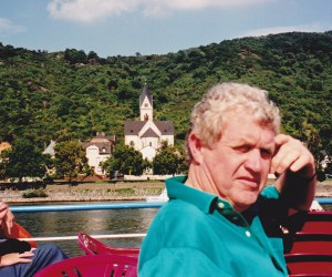 John on the Rhine river cruise from Boppard
