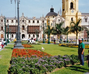 Lovely Plaza de Armas Lima surrounded by government buildings and churches