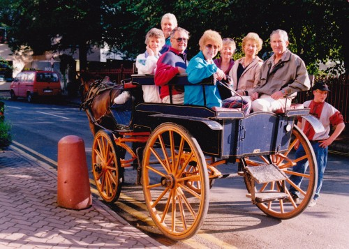HWT Cowra group Killarney Ireland carts Fay & Col Amos, Myra & Ken Capps,John and Colleen