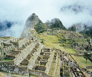 Swirling early morning mists at Machu Picchu, lovely to behold.