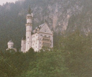 Mad King Ludwig's Castle in the mist