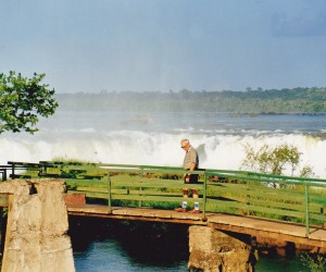 Our friend Max Tomlin on the bridge on Argentinian side of the Falls