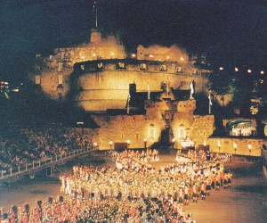 Military Tattoo Edinburgh Castle in August 1994
