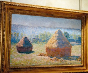 "Monet's 'Haystacks"" came into view and I was rapturous, one of my favourites"