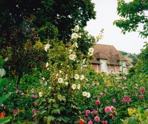 Claude Monet's house in his beautiful garden in Giverny