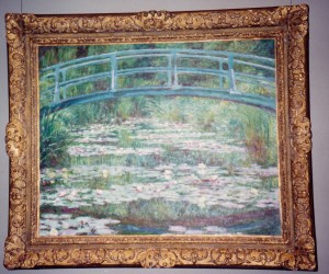 Monet's Japanese bridge painting in Musee D'Orsay