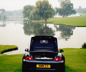 Looks like one of the Lord of the manor's cars about to go in the lake!