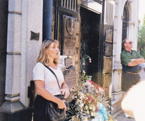 Our guide at Recoleto cemetery at the burial place of Eva Peron