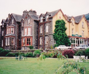 The Prince of Wales hotel in Grassmere Lakes District, a very lovely hotel to stay at and do walking tours around the region