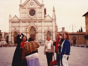 Santa Croce church with Deb Lawrence