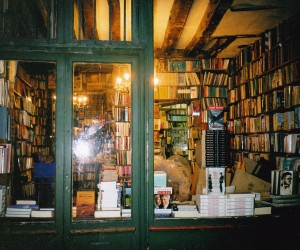 Shakespear and company's delightful bookshop on the left bank of Paris. Love the sign over a doorway saying 'BE NOT UNHOSPITABLE TO STRANGERS, LEST THEY BE ANGELS IN DISGUISE'.